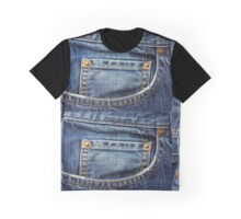 blue jean pocket Graphic T-Shirt