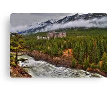 Banff Springs Hotel and the Bow River Canvas Print