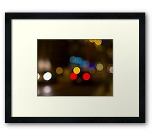 Lights of the night Framed Print