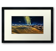 Kraz Moon Framed Print
