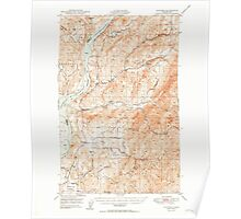 USGS Topo Map Washington State WA Hunters 241619 1950 62500 Poster