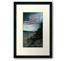 Daisy Flag Framed Print