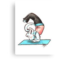 Yoga Kitty Canvas Print