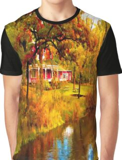 House on Pine River,Wisconsin U.S.A. Graphic T-Shirt