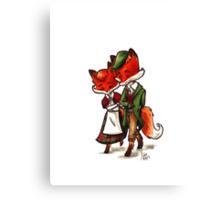 Scottish Foxes Canvas Print