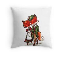 Scottish Foxes Throw Pillow