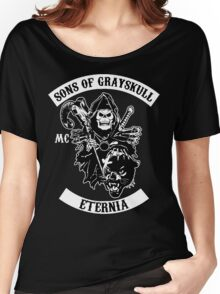 SONS OF GRAYSKULL!! (BLACK) Women's Relaxed Fit T-Shirt