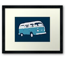 Bay Window Campervan Basic Colours (see description) Framed Print