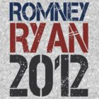 Romney Ryan 2012, Bold Grunge Design by CuteNComfy