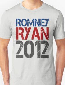 Romney Ryan 2012, Bold Grunge Design T-Shirt