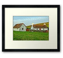 Thatched Cottages Framed Print