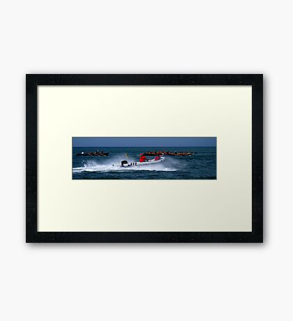 All At Sea...... Framed Print