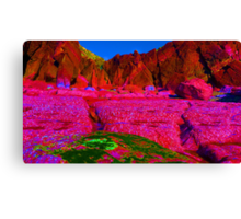 Psychadelic Rock - The Pink Plateau.. Canvas Print