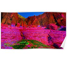 Psychadelic Rock - The Pink Plateau.. Poster