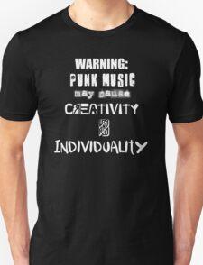 Punk Causes Creativity - White Unisex T-Shirt