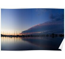 Peaceful Yachts and Sailboats Poster