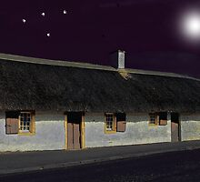 Robert Burns Cottage by Moonlight by simpsonvisuals