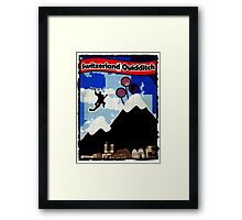 Switzerland Quidditch Framed Print