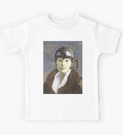 Amelia Earhart Kids Tee