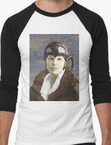 Amelia Earhart Men's Baseball ¾ T-Shirt