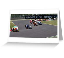 Start of the Mugello MotoGP Race 2011 Greeting Card
