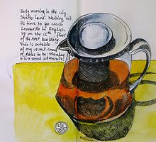 Tea in a clear pot by Evelyn Bach
