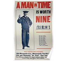 A man in time is worth nine 0001 Poster