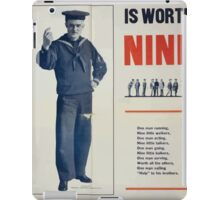 A man in time is worth nine 0001 iPad Case/Skin