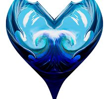 Water Heart - Color Solid by FirebornForm