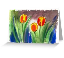 REAL DUTCH TULIPS Greeting Card