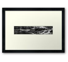 Cascades at the Haystacks August 2012 Framed Print