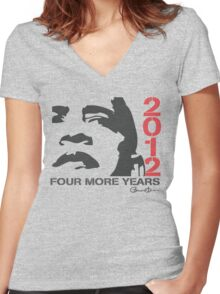 Obama 2012 Four More Years Shirt Women's Fitted V-Neck T-Shirt