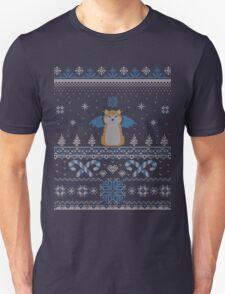Ugly Holiday Sweater (Blue) Unisex T-Shirt