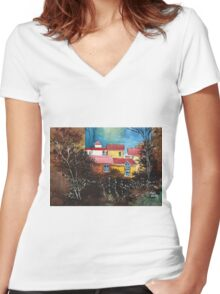 A window to the sky Women's Fitted V-Neck T-Shirt
