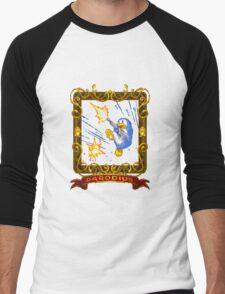 parodius penguin with a machine gun Men's Baseball ¾ T-Shirt