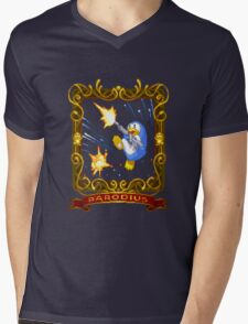 parodius penguin with a machine gun Mens V-Neck T-Shirt