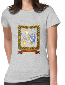 parodius penguin with a machine gun Womens Fitted T-Shirt