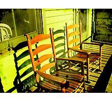 Green Rocking Chair Photographic Print