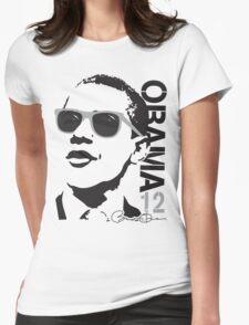 Obama 12 Shirt Shades Womens Fitted T-Shirt