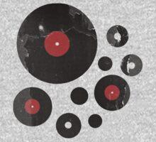 Vintage Vinyl Records Music DJ Retro Grunge T-Shirt! Kids Clothes