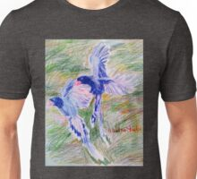 Blue Magpies Unisex T-Shirt