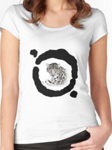 White jaguar Women's Fitted Scoop T-Shirt