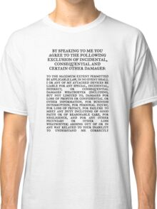 License agreement Classic T-Shirt