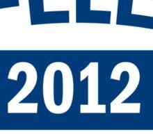 Re-Elect Obama 2012 Shirt Sticker