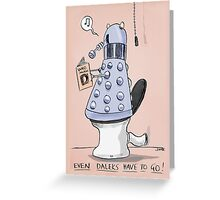 dalek toilet humour Greeting Card