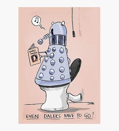 dalek toilet humour Photographic Print