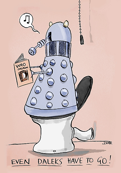 dalek toilet humour by Loui  Jover