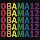 Obama Pride 2012 Retro Rainbow Shirt by ObamaShirt