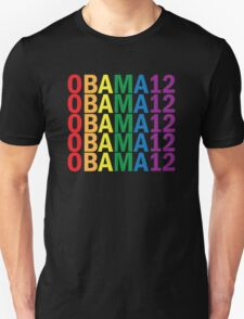 Obama Pride 2012 Retro Rainbow Shirt Unisex T-Shirt