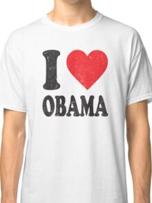I Love Obama Retro Shirt Classic T-Shirt